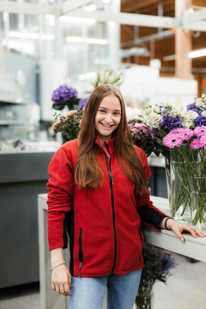 Angela unsere Floristin EFZ